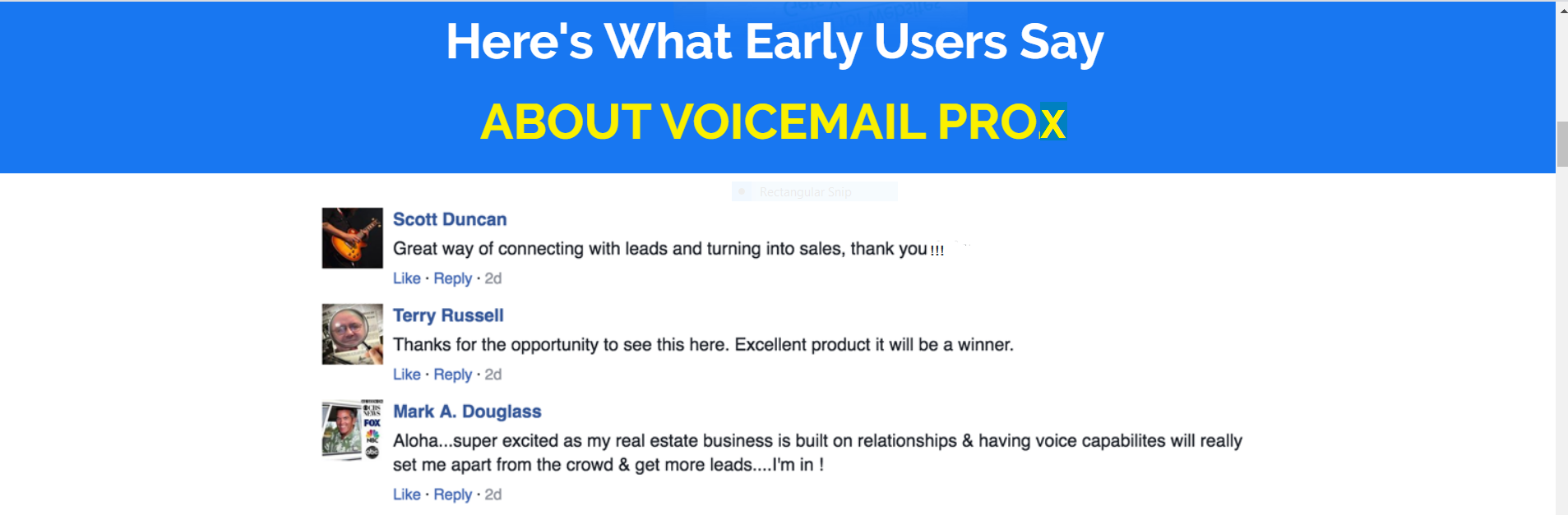 VoiceMail For Websites