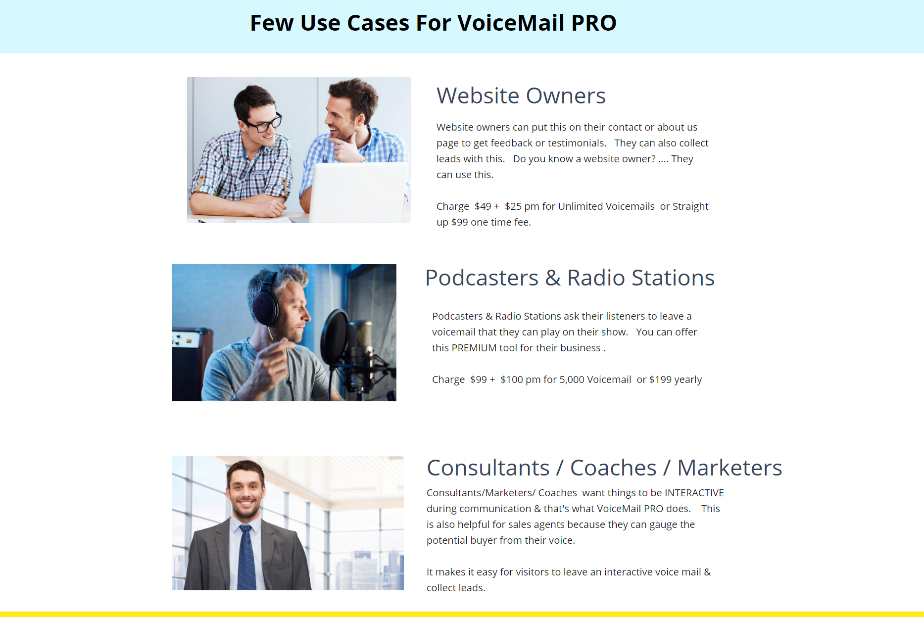 VoiceMailPro For Websites