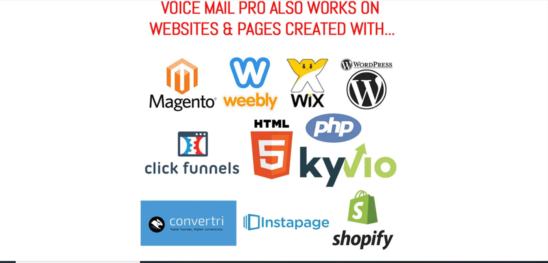 VoiceMailPro For Websites and Landing Pages